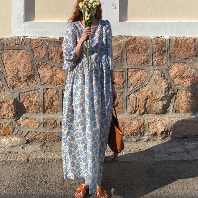 30%OFF Flower vacation dress / ワンピース / LE-110