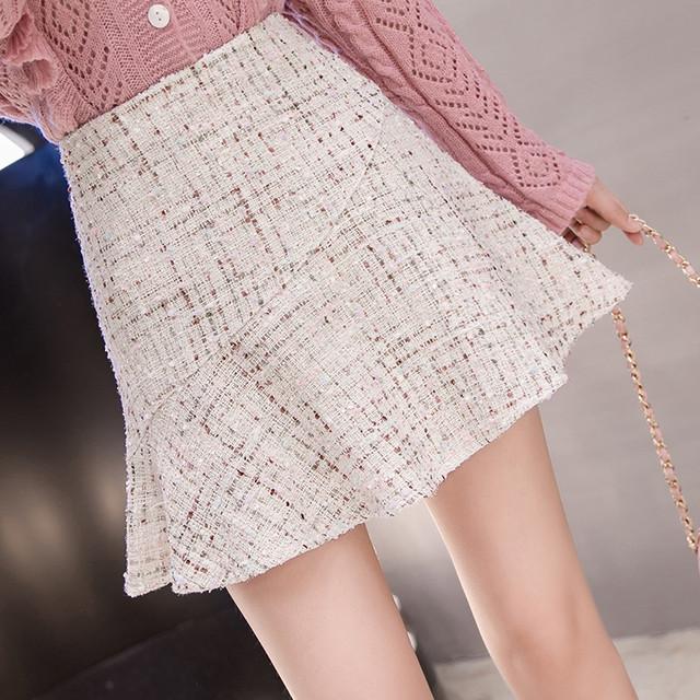 【bottoms】上級者女っぽさチェック柄Aライトスカート