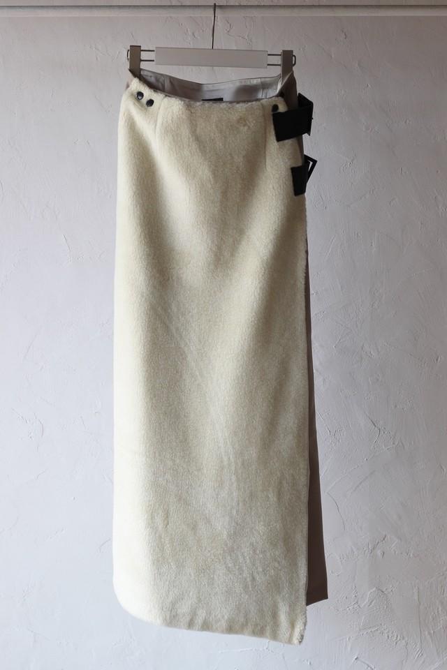 【Needles】front boa wrap skirt twill