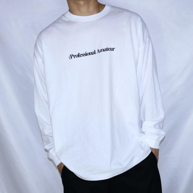 LOGO Long Sleeve T Shirt (WHITE)