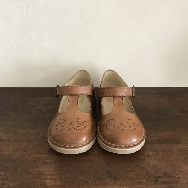 Young Soles : Penny T-Bar(Tan Burnished)