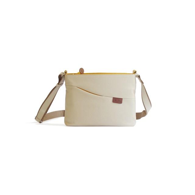 【袋果 NEWポシェット / ホワイト】旅行に便利なショルダーバッグ