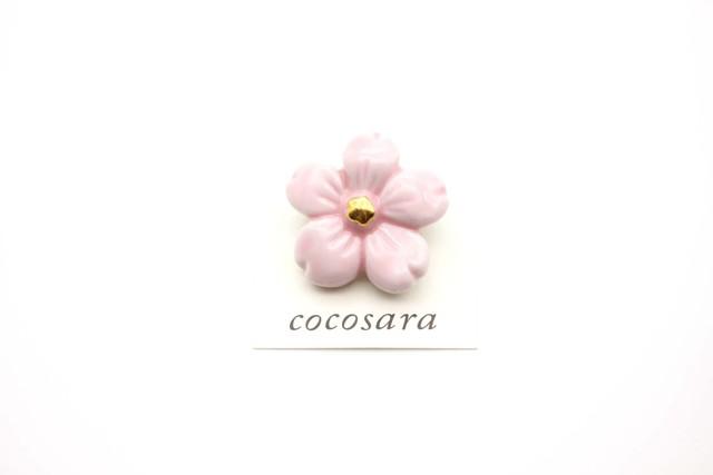 有田焼ブローチ 桜 (ピンク)