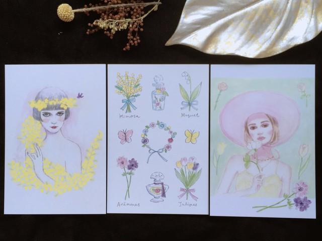 ポスカset(3P)flower&girls