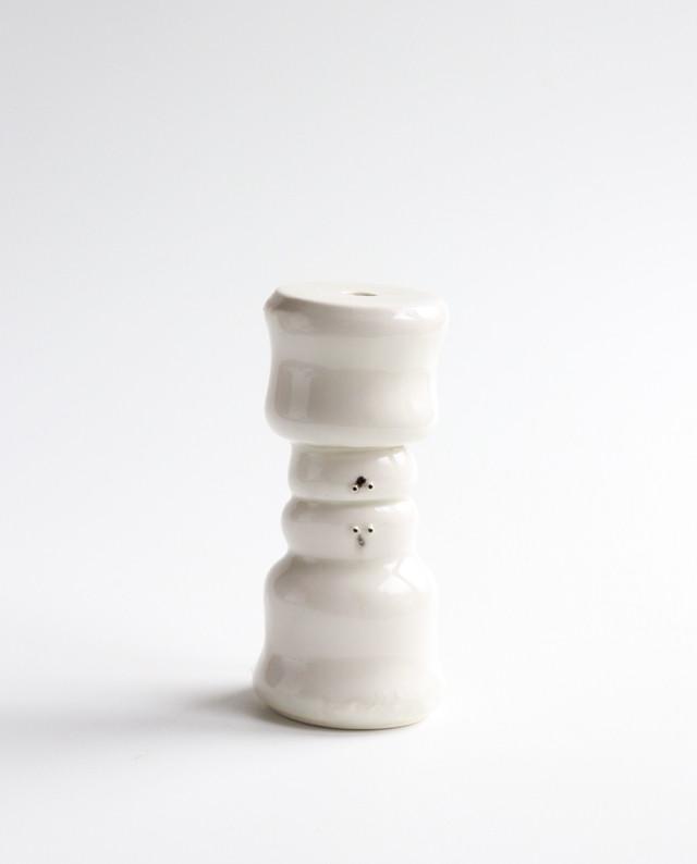 水面の白玉くんのフラワーベース  花瓶