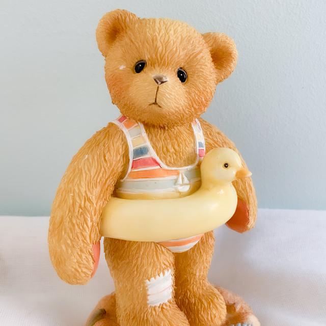 【Cherished Teddies】ひよこの浮き輪が可愛い水着のくま/フィギュア置物