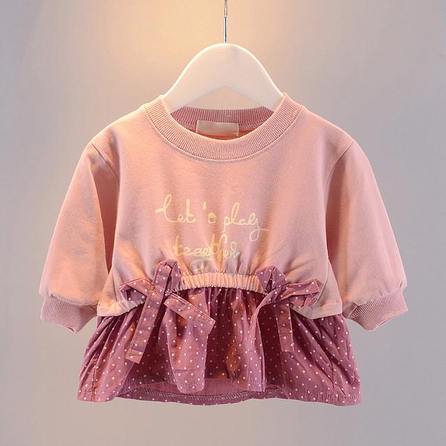 【子供服】柔らかい可愛い多色展開配色切り替えTシャツカットソー・トップス24352311
