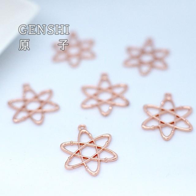 【宇宙パーツ】化学式「原子」1セット6個☆柔らかくて巻きやすい銅線Presnt!