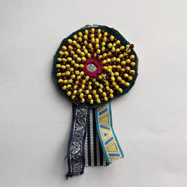 [Trophy] Hand Needle Brooch _03(ヴィンテージ ハンドメイド 刺繍ブローチ)