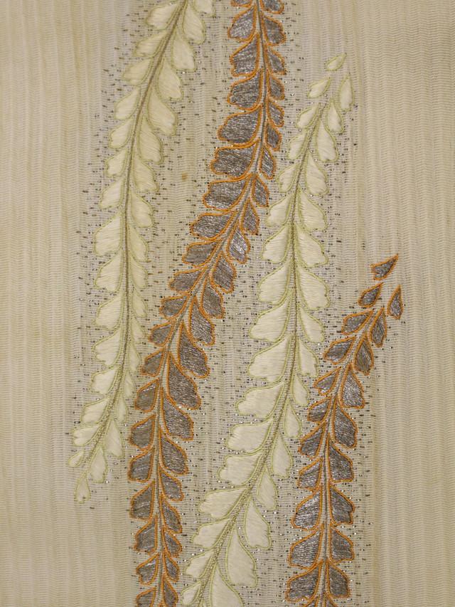 藤刺繍半襟