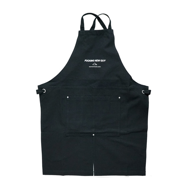 F.N.G /canvas apron (Black×White) - メイン画像
