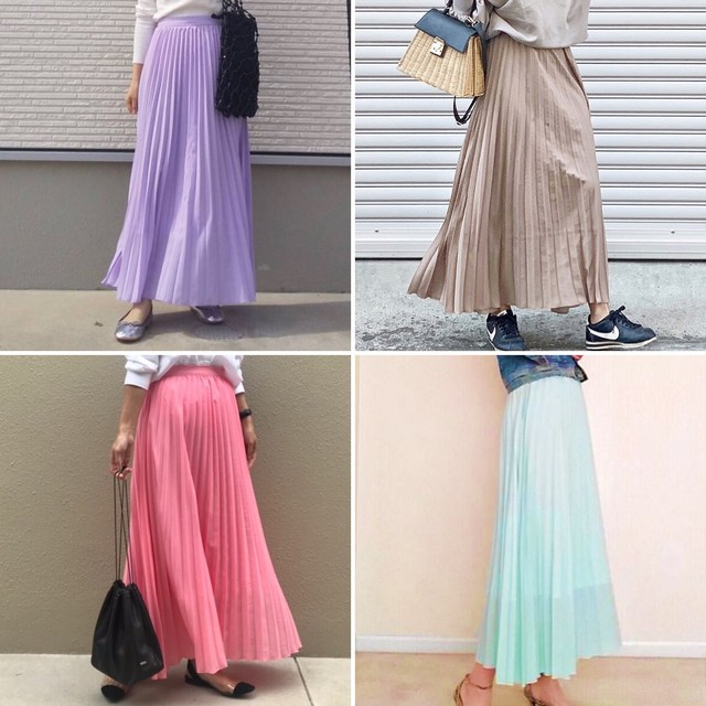 ◆即納◆Collaboration Pleated skirt