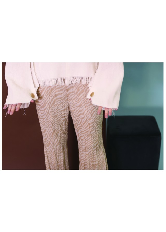 CRINKLE-FIN FLAIR TROUSERS