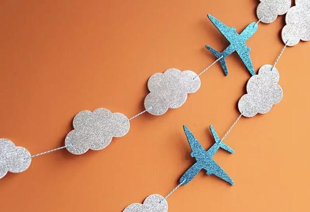 飛行機バナー 誕生日  1歳 赤ちゃん ベビー 飾り 装飾 飾り付け プレゼント バースデー 男の子