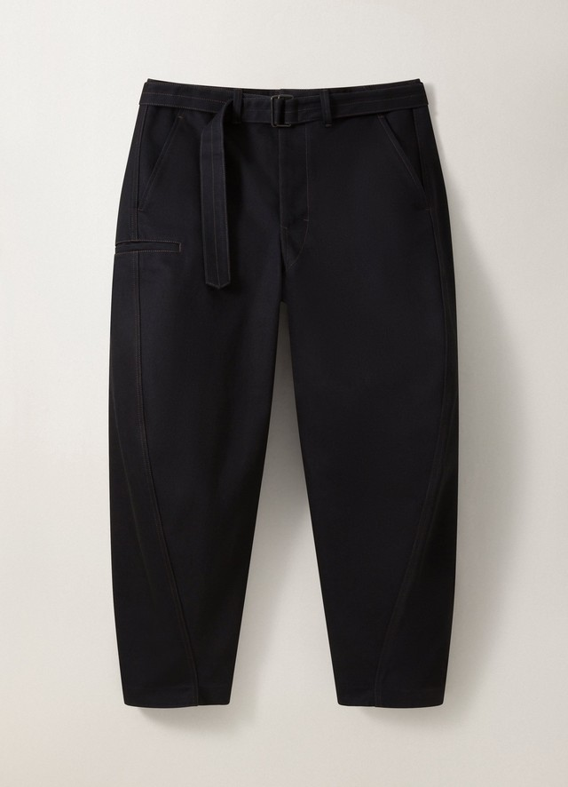 LEMAIRE TWISTED PANTS Black M 203 PA137 LD049