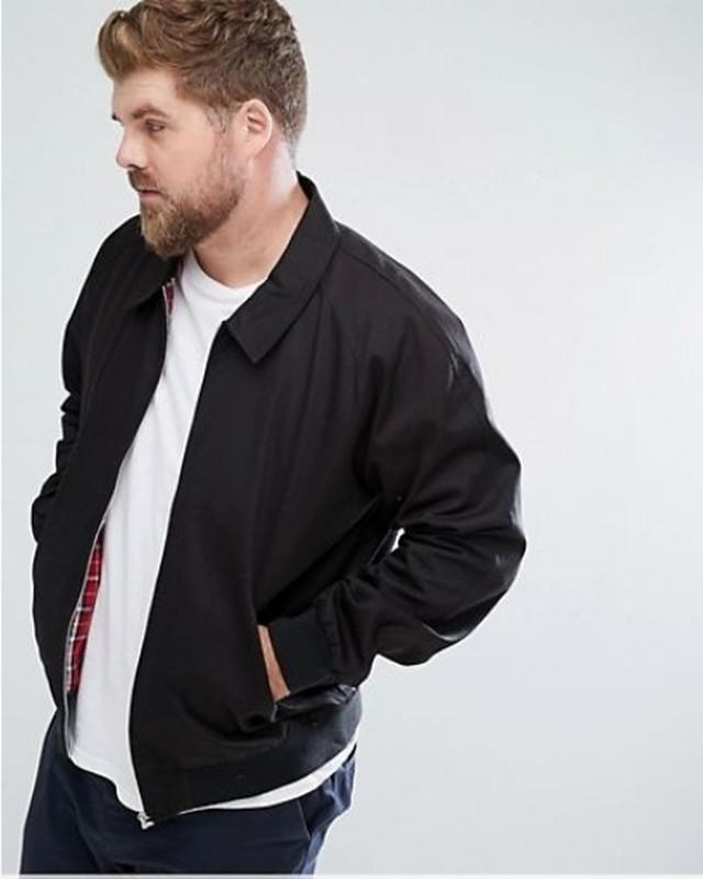ビッグサイズ ハリントンジャケット(ブラック)