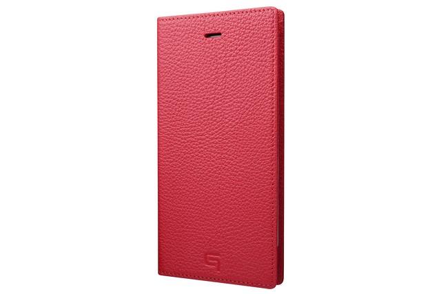 GRAMAS Shrunken-calf Full Leather Case for iPhone 7 Plus(Pink) シュランケンカーフ 手帳型フルレザーケース - メイン画像