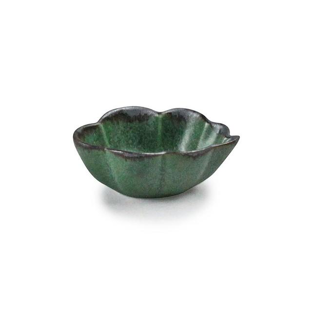 「翠 Sui」しょうゆ皿 雲豆鉢 長幅6.5cm まつば 美濃焼 288212