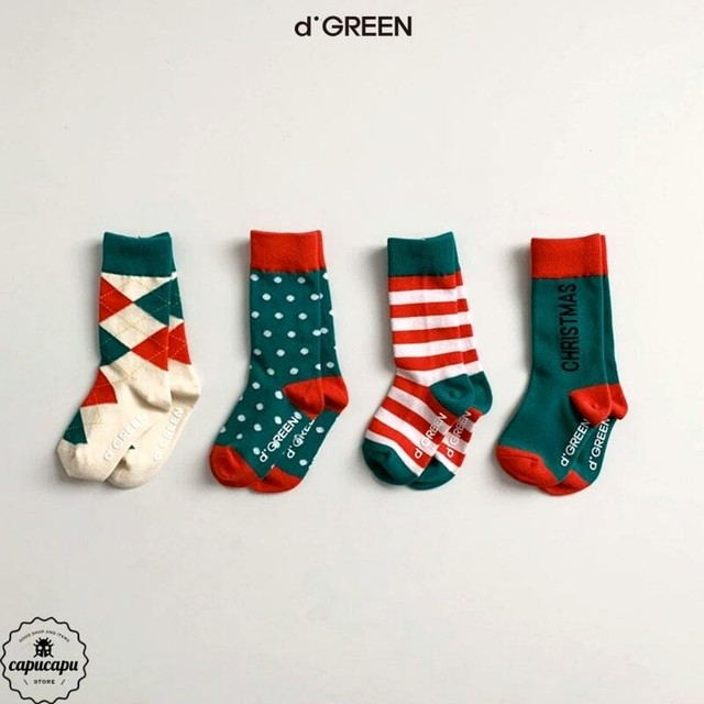«sold out»«4足セット» happy holiday socks 4set クリスマスソックス 靴下