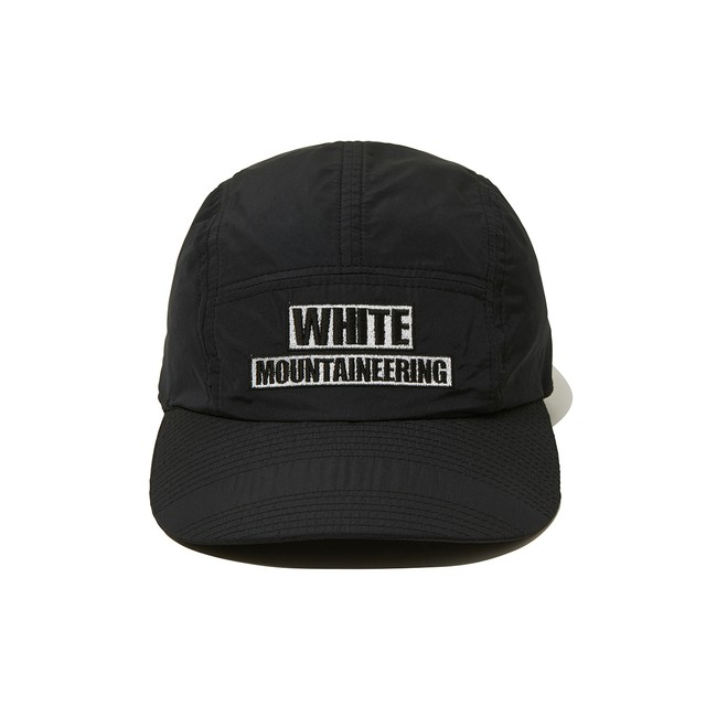 WM LOGO EMBROIDERED JET CAP -BLACK