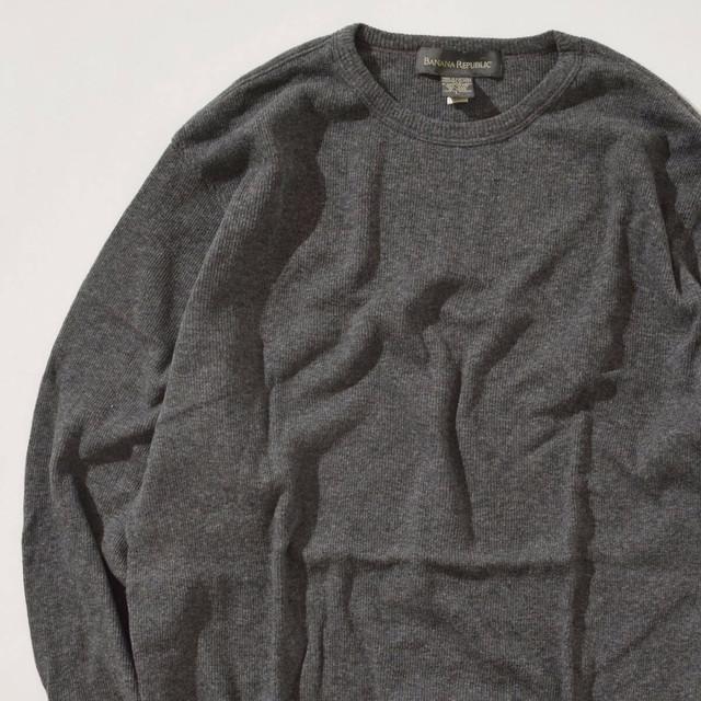 【Lサイズ】BANANA REPUBLIC バナナリプバリック Sweater セーター GRY グレー L 400604191107