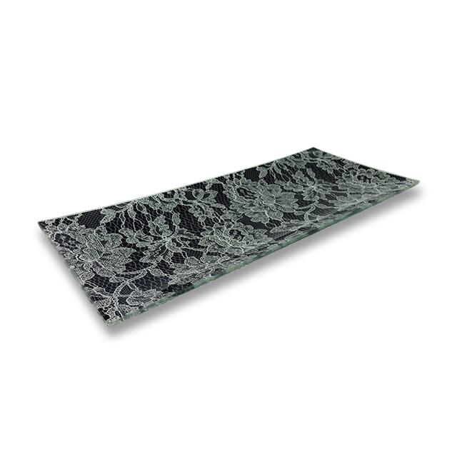 ガラストレー #82218S ブラック(13×30cm長方形皿)