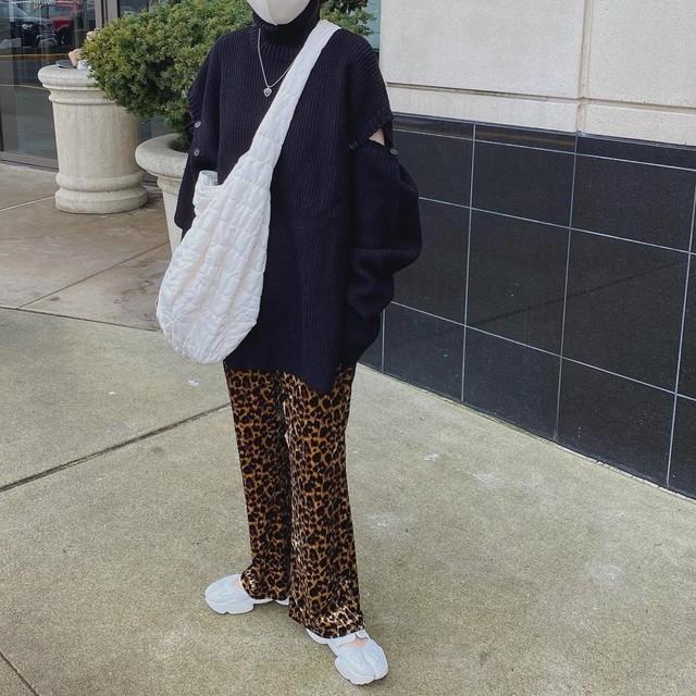 【LAST2】 DAYNYC velours leopard pants