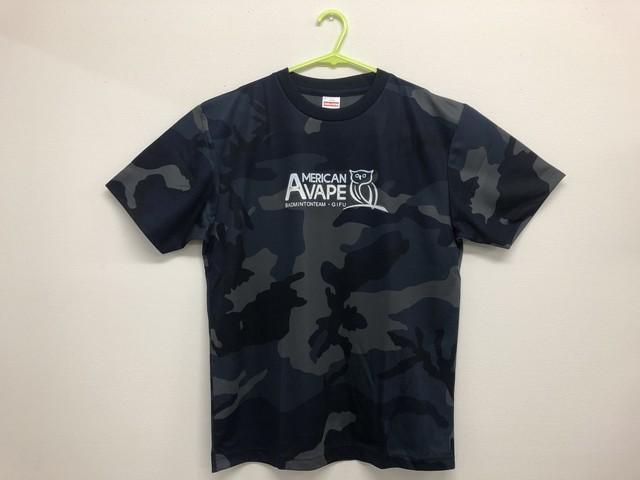 アメリカンベイプ公式フクロウTシャツ(カモフラ:ネイビー)