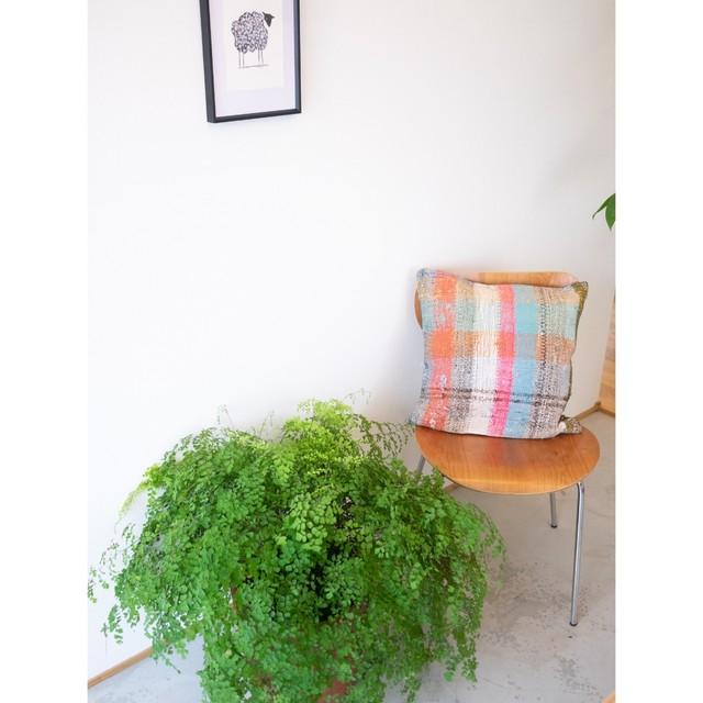 Kilim Cushion Cover <Pink Check>