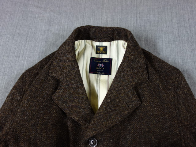 classic shetlandwooltweed tailor jacket / brown
