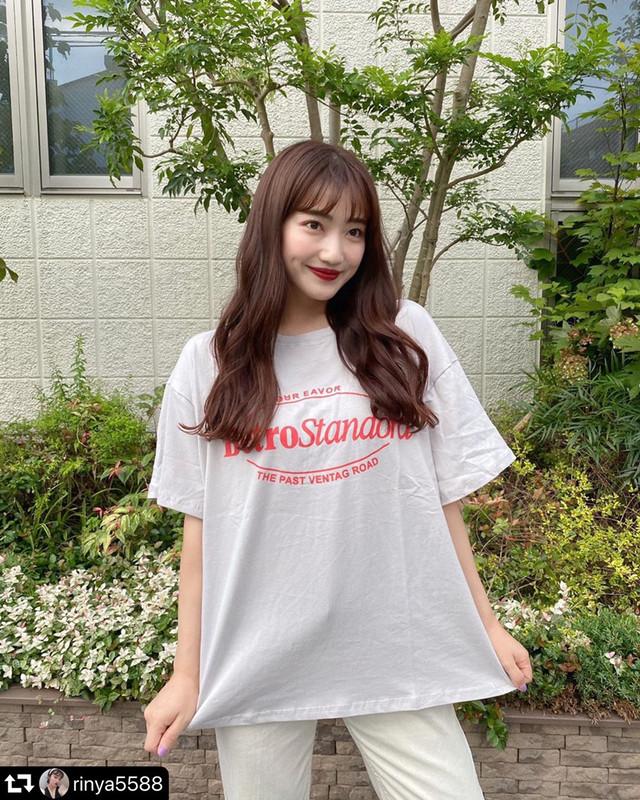 【送料無料】 ゆるだぼ感がGOOD♡ メンズライク カジュアル ロゴ オーバーサイズ ビッグシルエット ルーズ Tシャツ