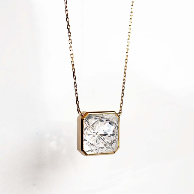 Quartz KIRIKO Necklace (Square10 / N120-CQ)