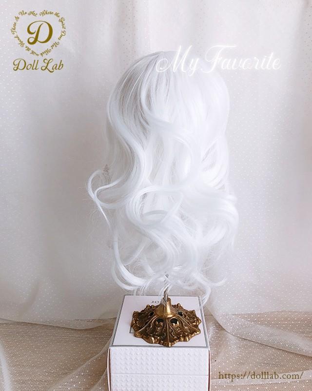 アリスシフォン[10inch]ピュアホワイト 髪なしブライス ドール ウィッグ