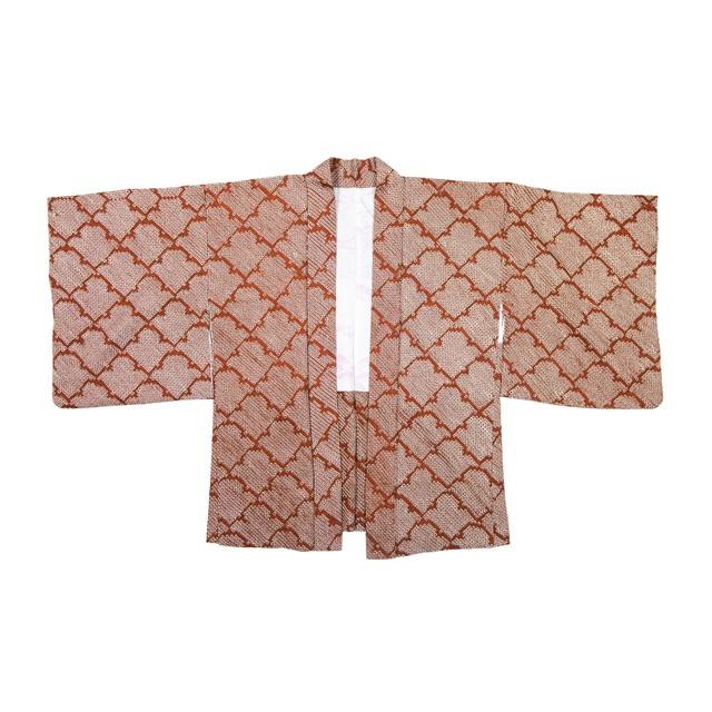 HAORI:羽織り-総絞り(エンジ色)