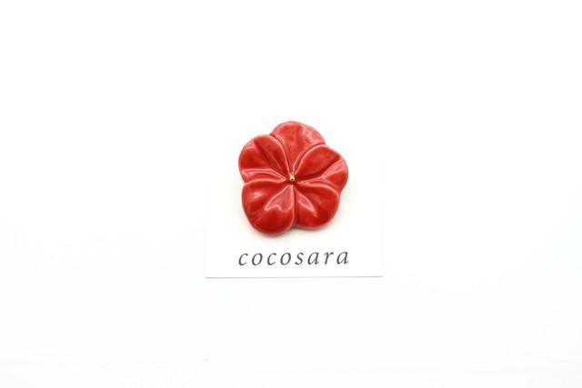 有田焼 ブローチ flower(L)赤