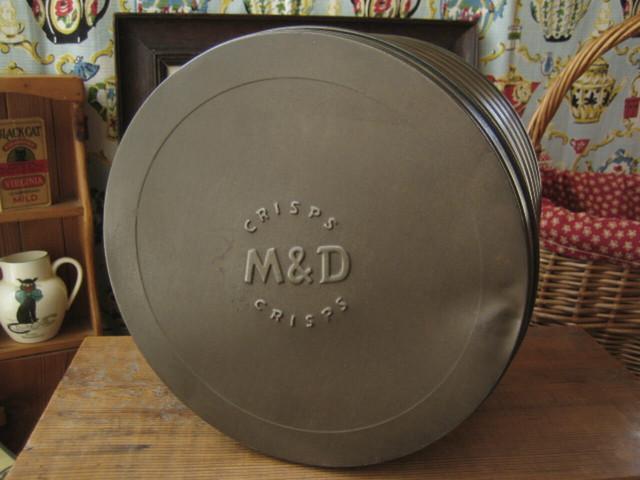 イギリスアンティーク CRISPS缶(M&D)