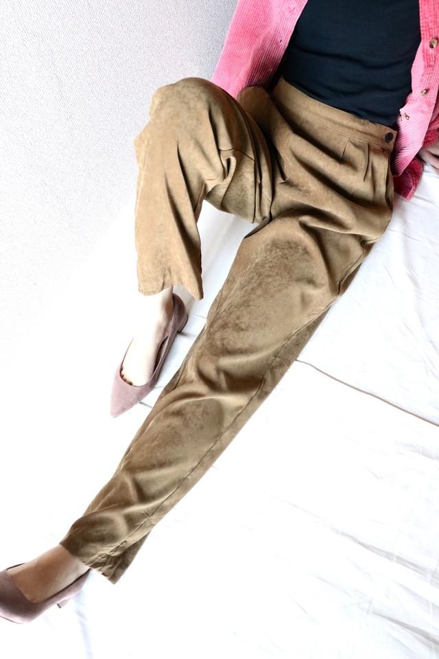 Vintage fake suede pants