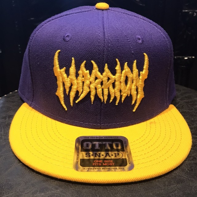 MARRIONAPPAREL LOGO MESH CAP (Purple&yellow)