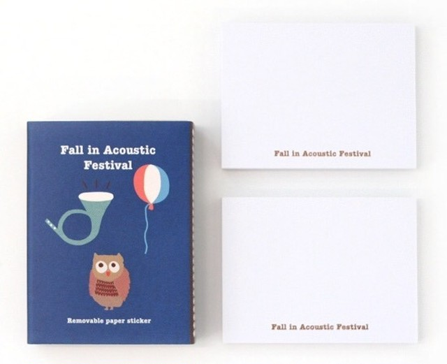 CBB Fall in Acoustic Festival 2015 01 memo sticker