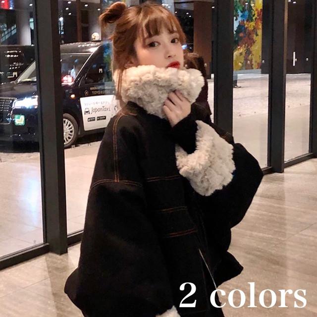 ファー ミリタリー モッズ ジャケット アウター レディース 秋 冬 物 ショート 丈 長袖 韓国 ファッション 大人 の 可愛い カジュアル 暖か い OU-0175