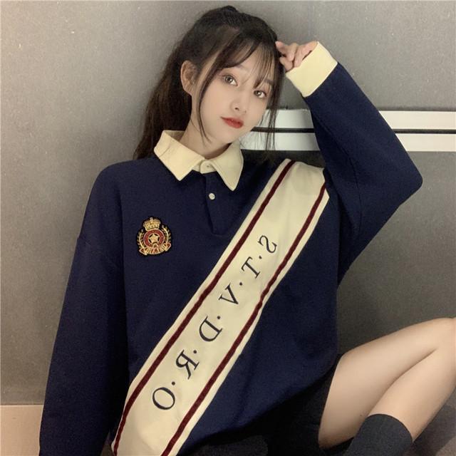 制服風カラーポロシャツ