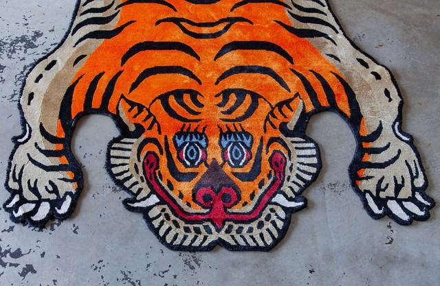 Tibetan Tiger Rug 《Lサイズ•シルク024》チベタンタイガーラグ