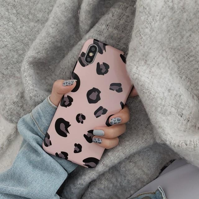 大人気!ミルキーカラーのレオパード柄デザイン (SPCa0020PK)◆スマホケース/iPhoneケース