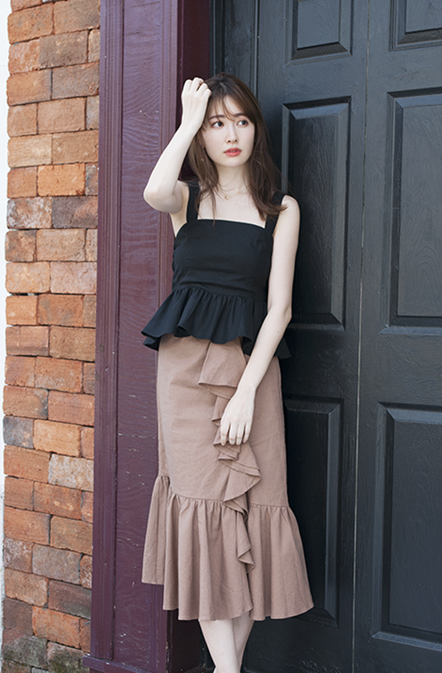 Cotton Linen Tiered Skirt