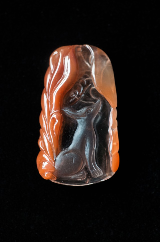 Carving Quartz - 004 Ninetails fox