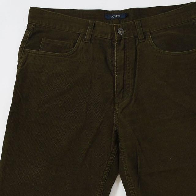 【w33】J.CREW ジェイクルー CORDUROY PANTS コーデュロイパンツ GREEN 33×32 400612191017