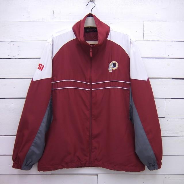 Dunbrooke ダンブルック NFL Washington Redskins ワシントン レッドスキンズ ジップアップジャケット ウインドブレーカー メンズ Lサイズ