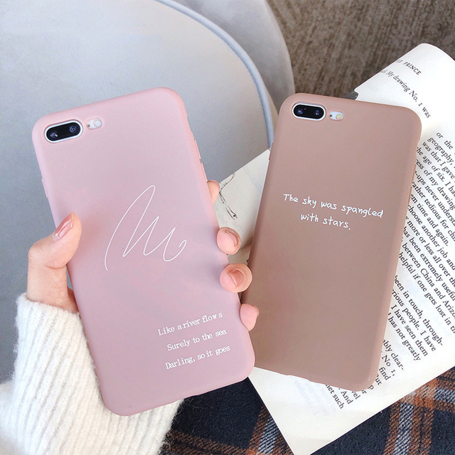 Simple letter iphone case