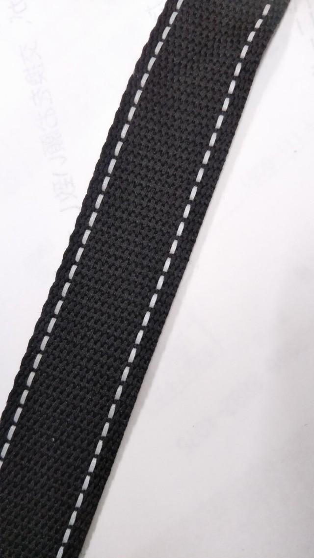 反射テープ 15㎜幅 ポリエステル 黒 50m巻