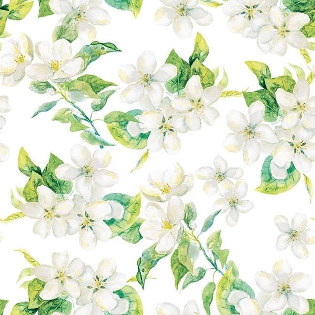 入荷しました 2020春夏【Ambiente】バラ売り2枚 ランチサイズ ペーパーナプキン CHERRY BLOSSOM グレー